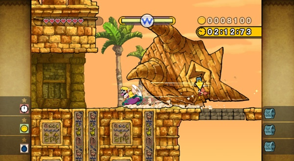 Despite his portly figure, Wario can shift up a gear when he needs to...like when being chased by a giant stone head.
