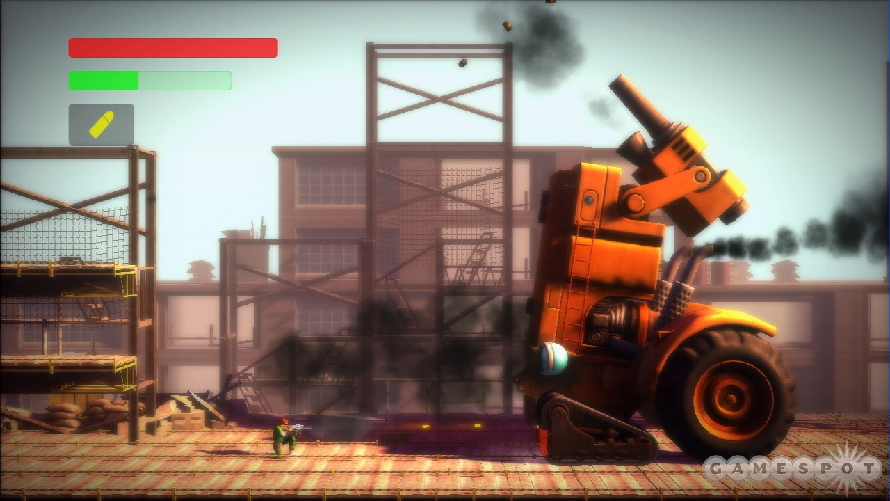 You can even shoot out treads in Bionic Commando. So hardcore.