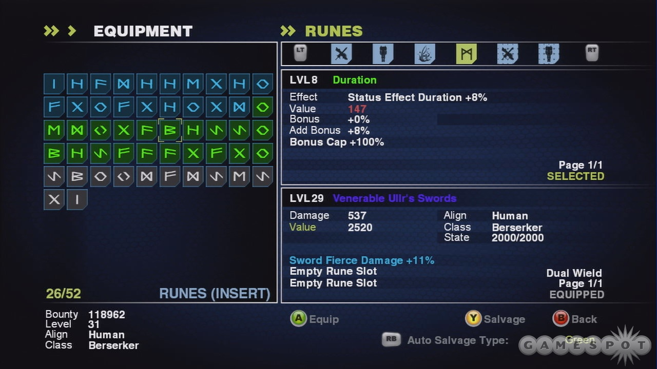 Runes are a great way of tailoring Baldur to your particular play style.
