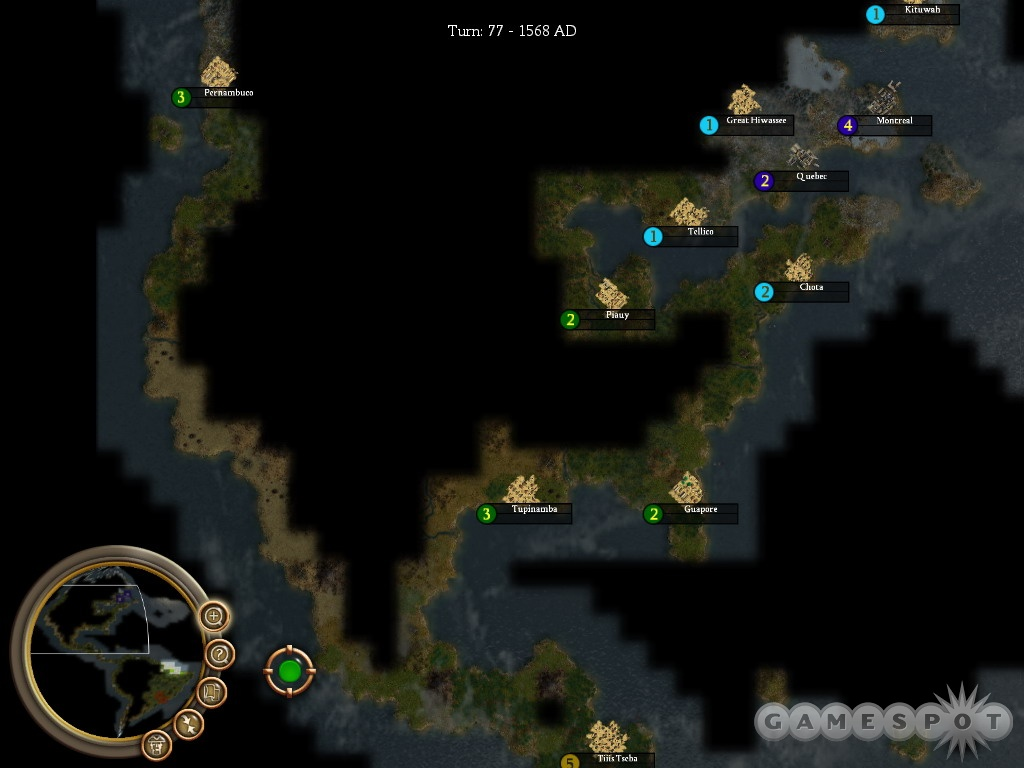 An accurate map of the New World awaits in scenario mode.