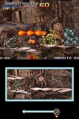 The screen may be a bit smaller than you're used to, but this is the same old Metal Slug at heart.