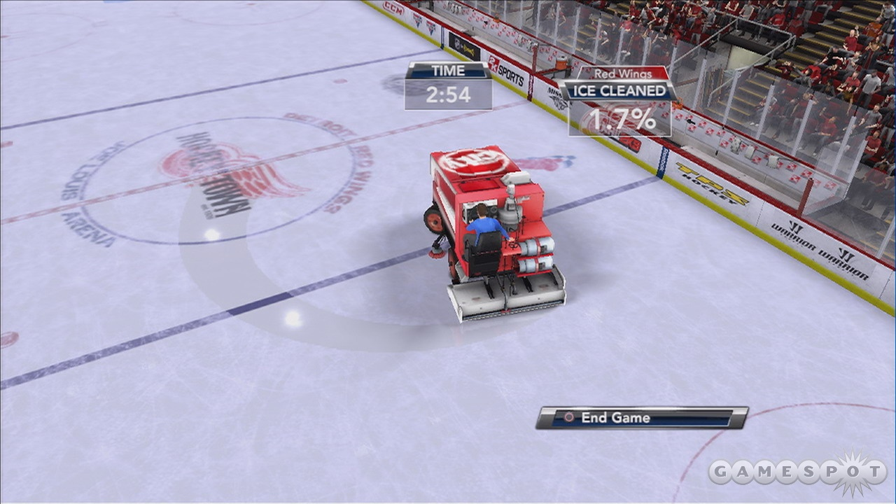 The Zamboni races are new, but they're hardly a compelling reason to upgrade from last year's game.
