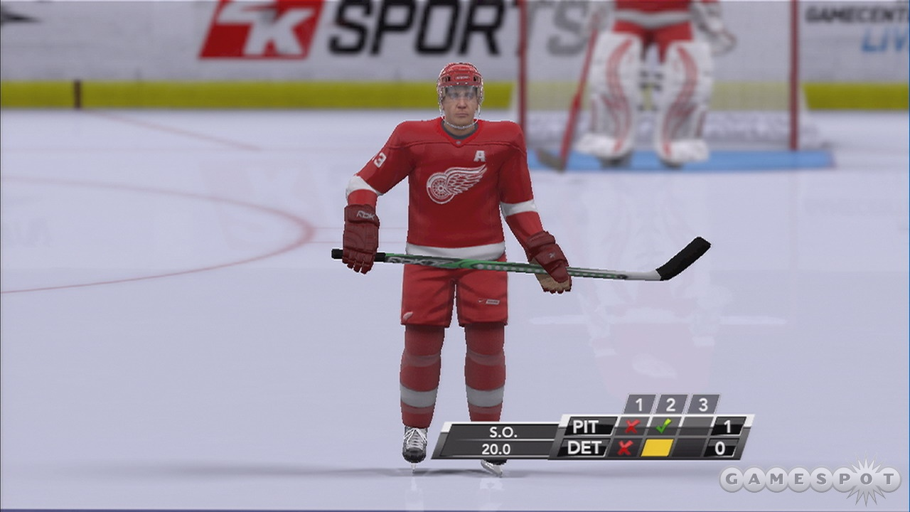 Blocky player models make NHL 2K9 even more of a blast from the past than its retro controls.