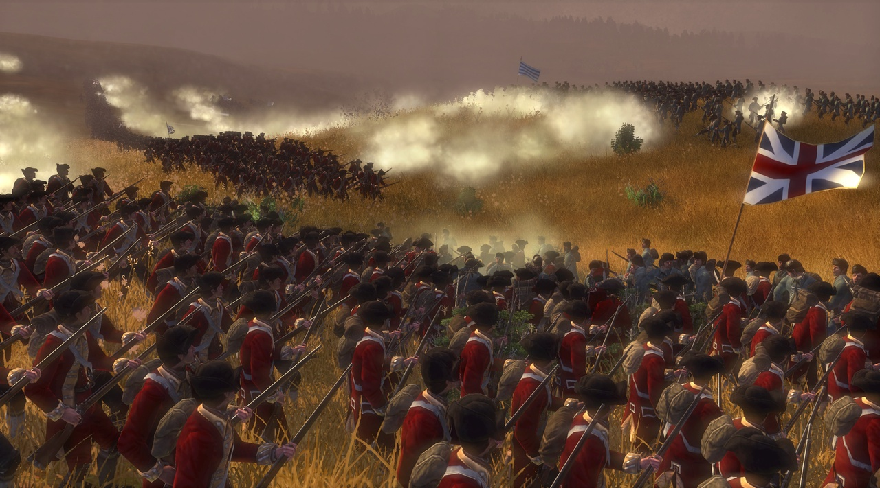 The British are coming! Epic land battles may feature thousands of individual troops.