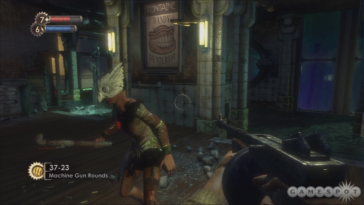 The deadly inhabitants of Rapture can be brought down with a good gun.