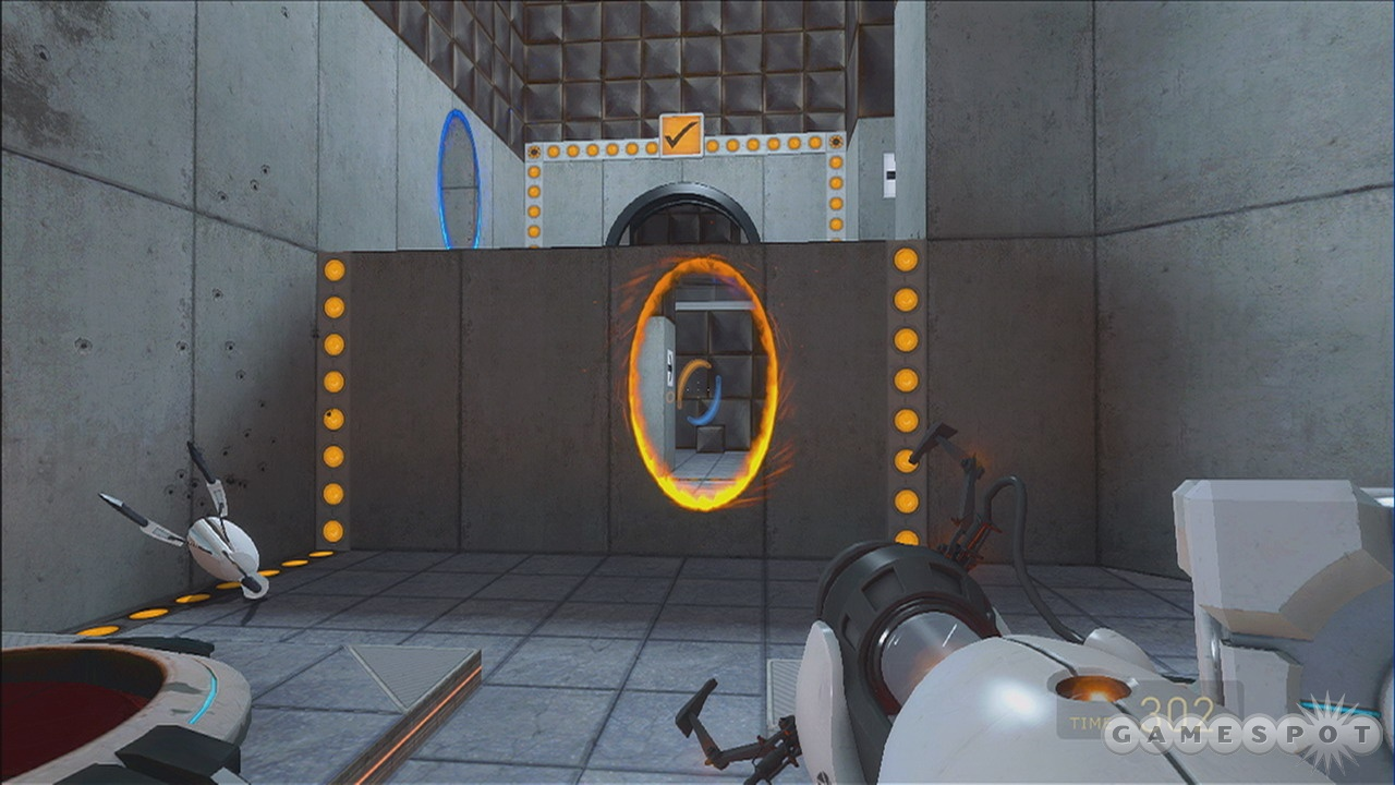 Just another day in the Aperture Science Computer-Aided Enrichment Center.