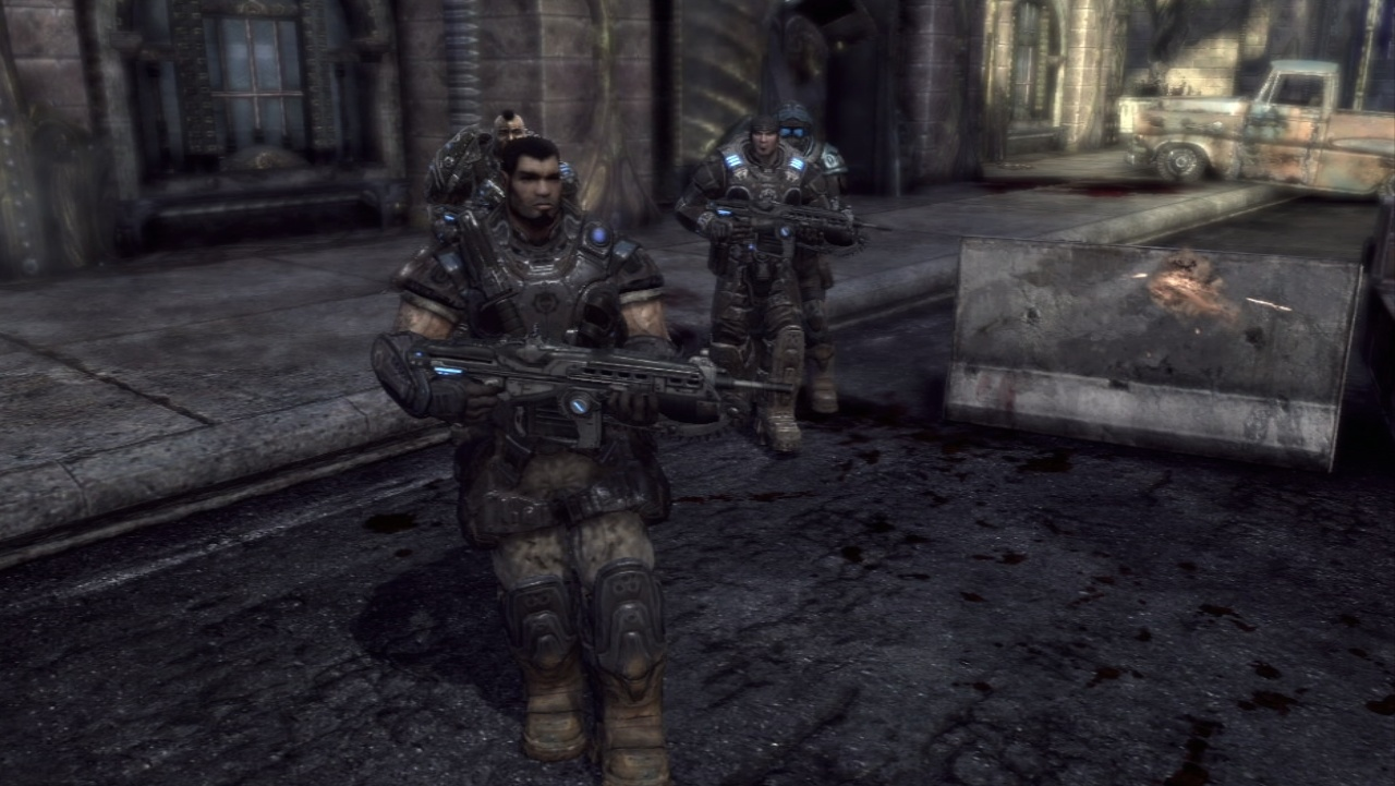 Marcus Fenix and Dom Santiago return in Gears of War 2, heading underground to bring the fight to the Locust.