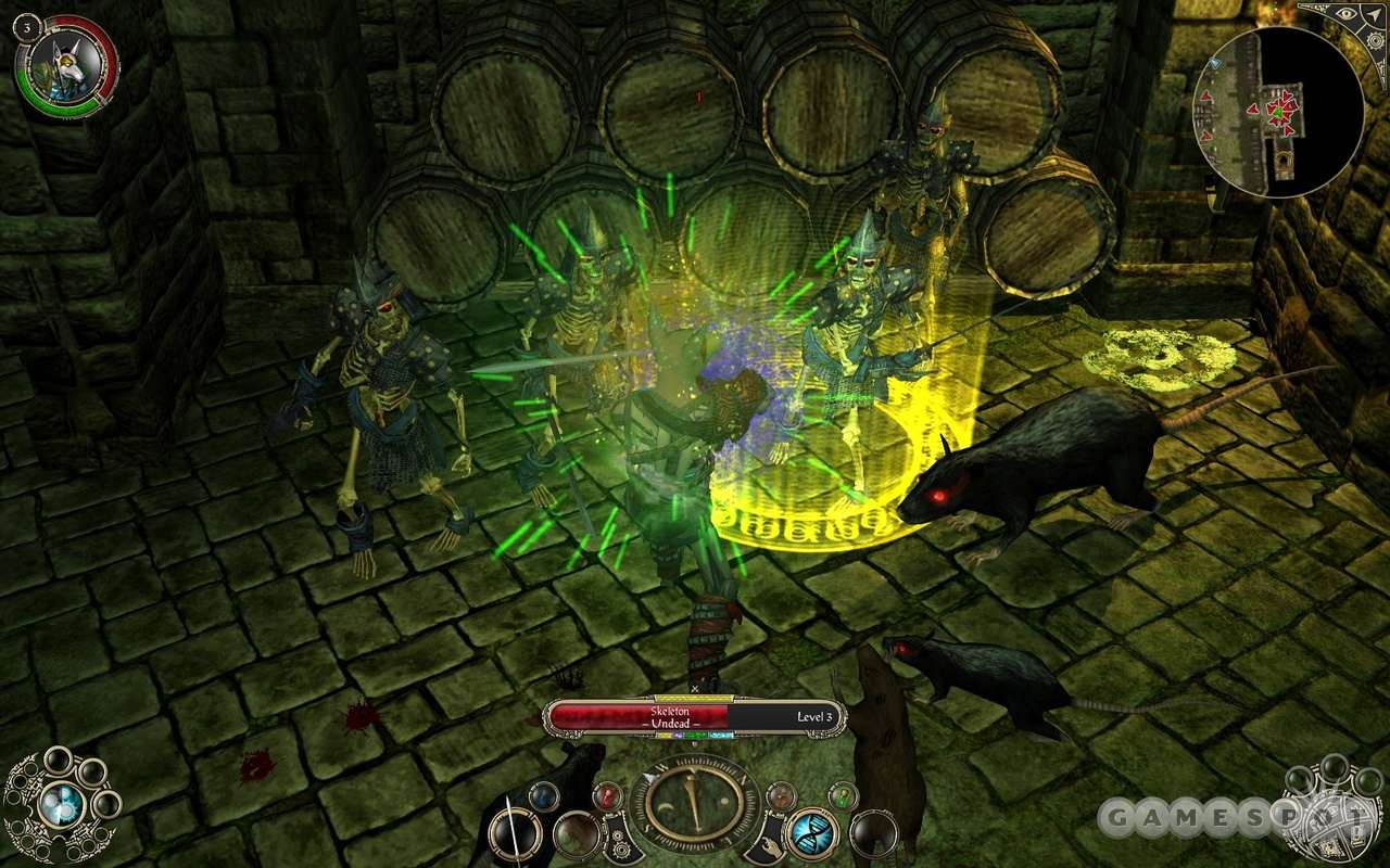 Dungeon crawls in Sacred 2 are relatively rare, but always dramatic and spooky.