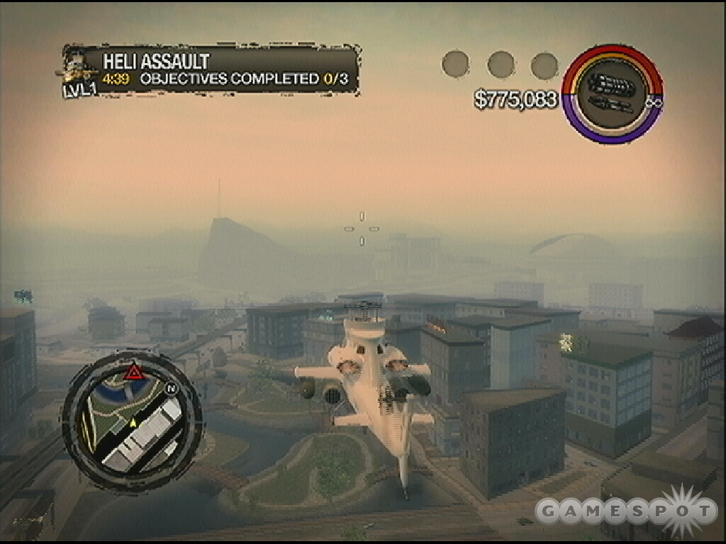Level one tasks feature object destruction but Heli Assault is mostly about protection.