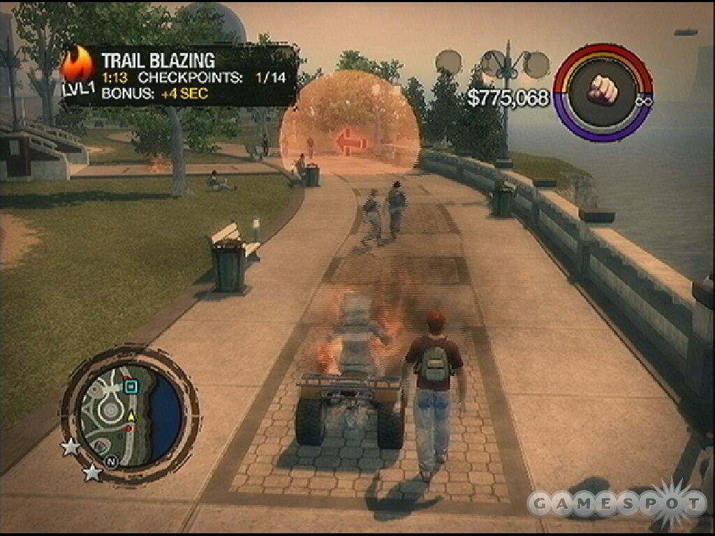 Trail Blazing balances racing with lighting things on fire. Sounds fun!