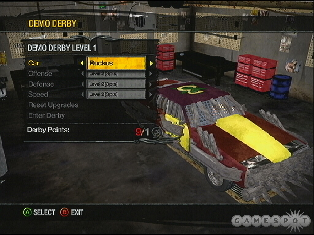 You can't just sit back and wait for the other derby cars to destroy themselves--you have to cause damage!