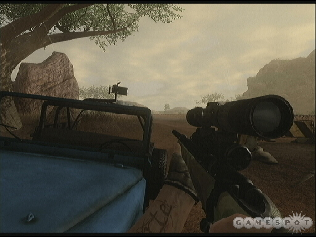 Take a dart rifle along to the Dogon Village so you can eliminate guards from long-range.
