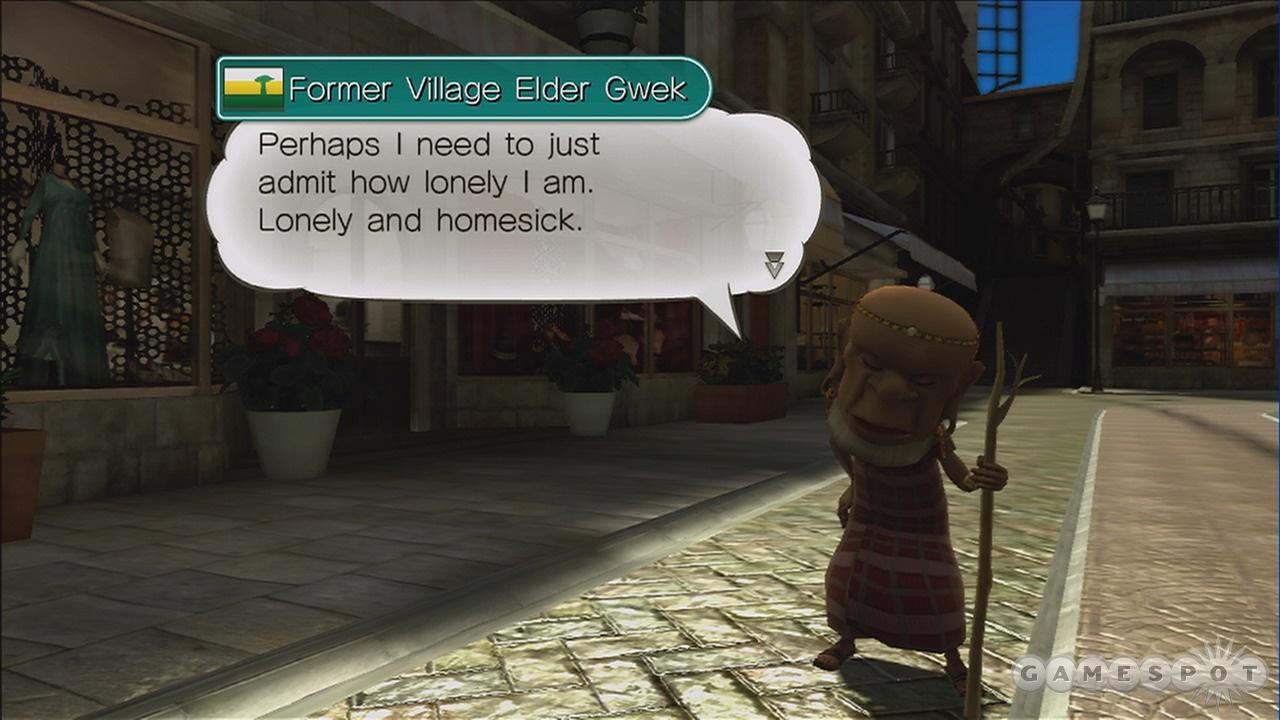 You'll learn plenty of useless information talking to townsfolk.