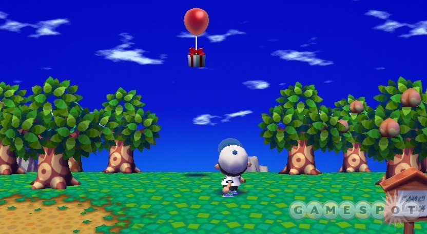 Use the slingshot to shoot the balloons out of the sky!