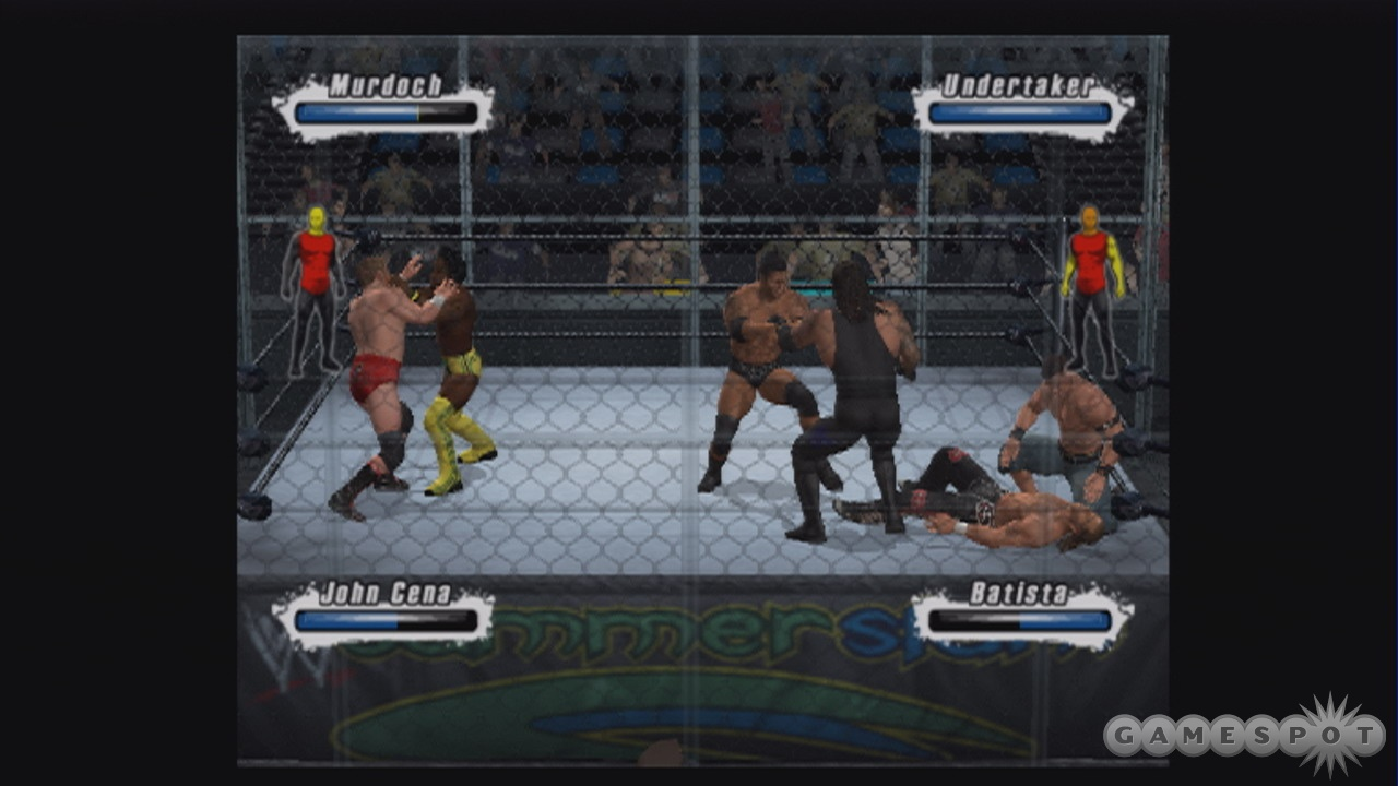Six-man matches can get pretty hectic.