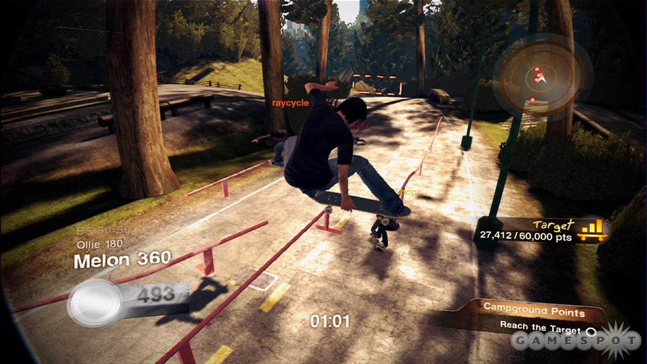 The co-operative online play liberally borrows ideas from Burnout Paradise.