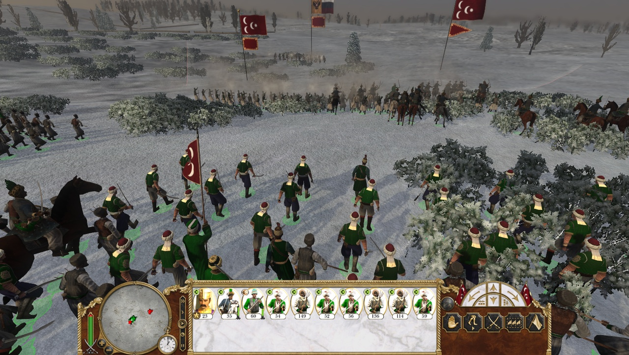 The puny Austrians are no match for the might of the Ottomans.