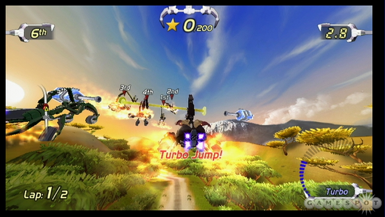Fast-paced, high-flying action is what this game is about.