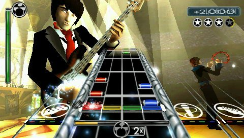 Unplugged maintains the same Rock Band aesthetics even in portable format.