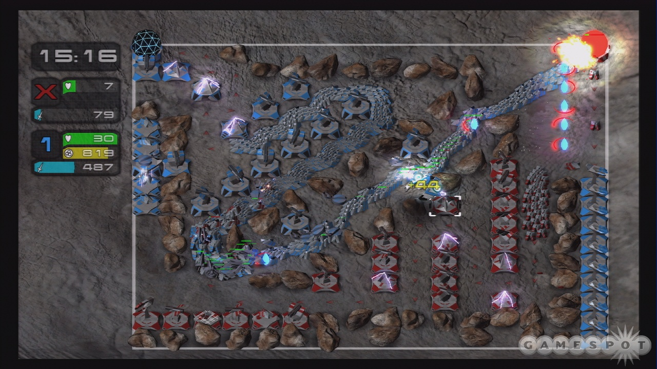 Overwhelming your enemy with a ton of troops is always one strategy.