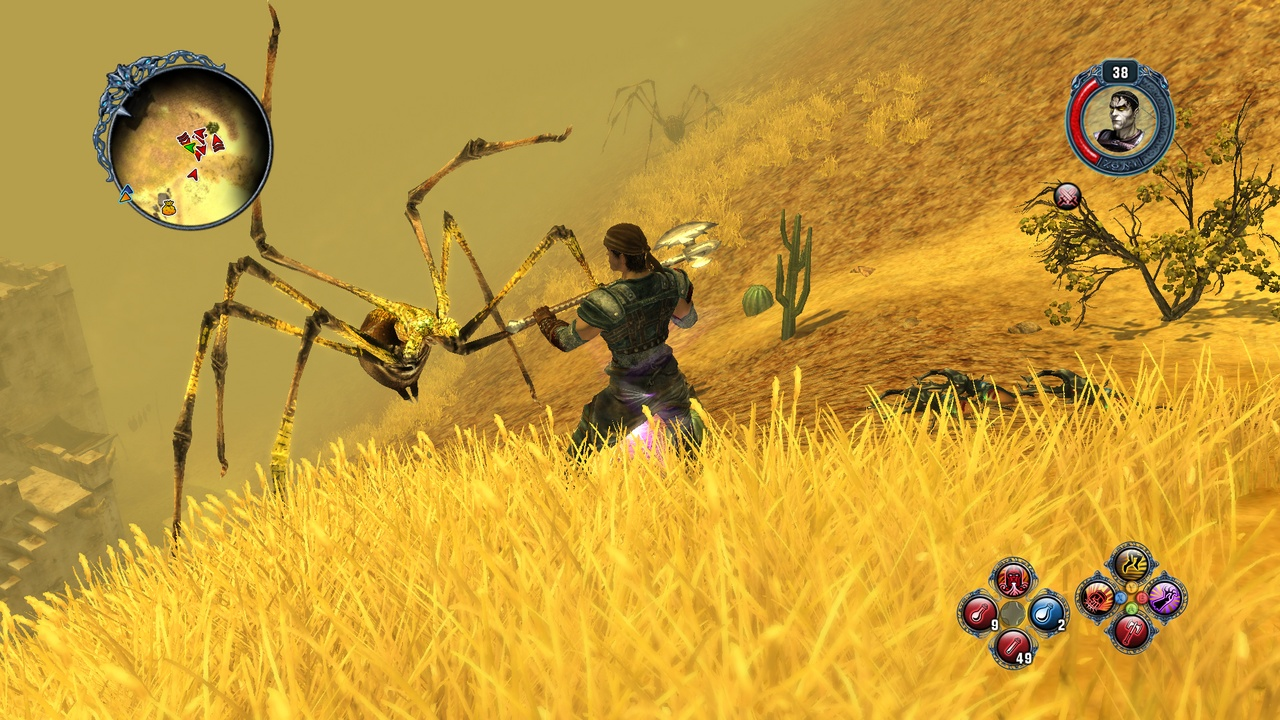 Sacred 2's lush outdoor scenery comes at the price of too many