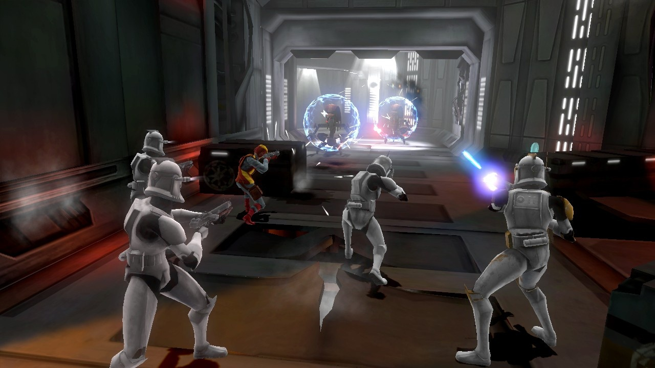 These droids are no match for the clones.
