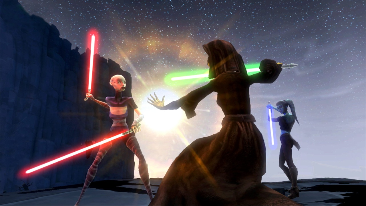 Play as a mighty Jedi or a well-armored clone.