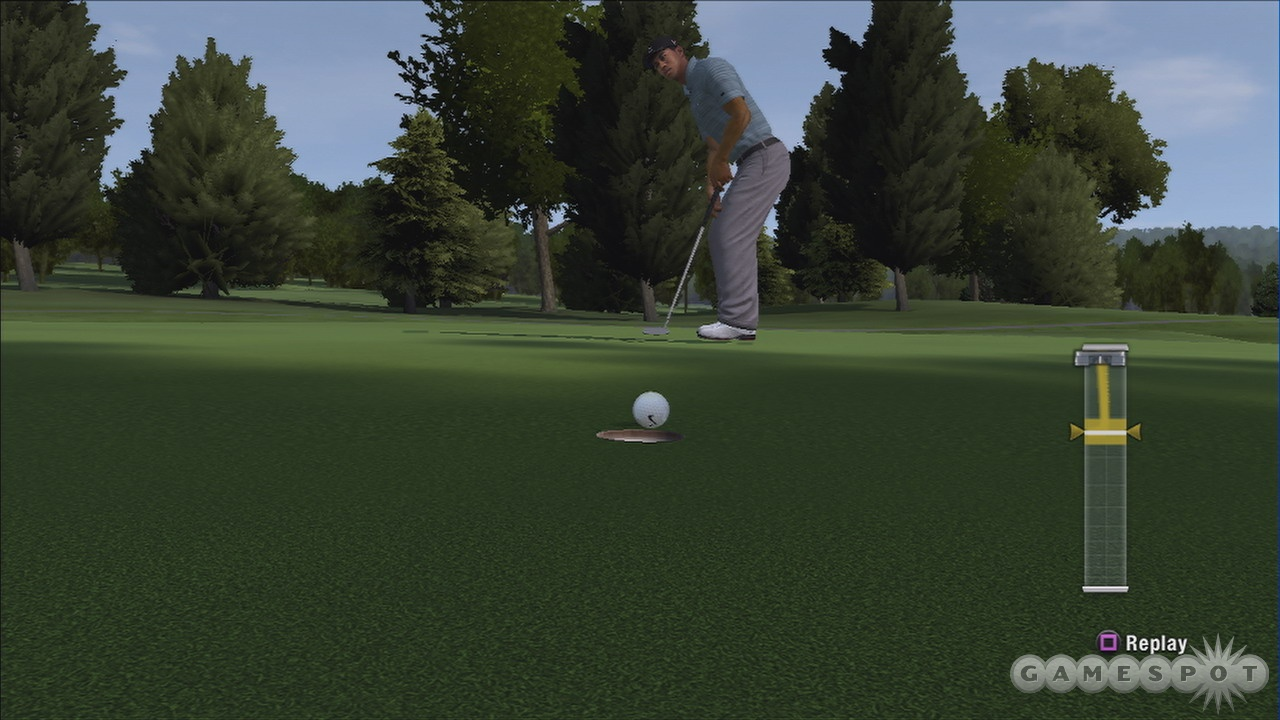 The new precision putting mechanic is a big improvement over last year's game.