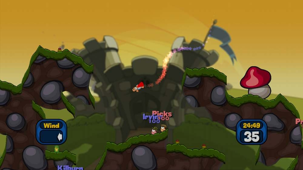 Worms 2: Armageddon contains all the best weapons from the series to date, such as the wonderful Super Sheep.