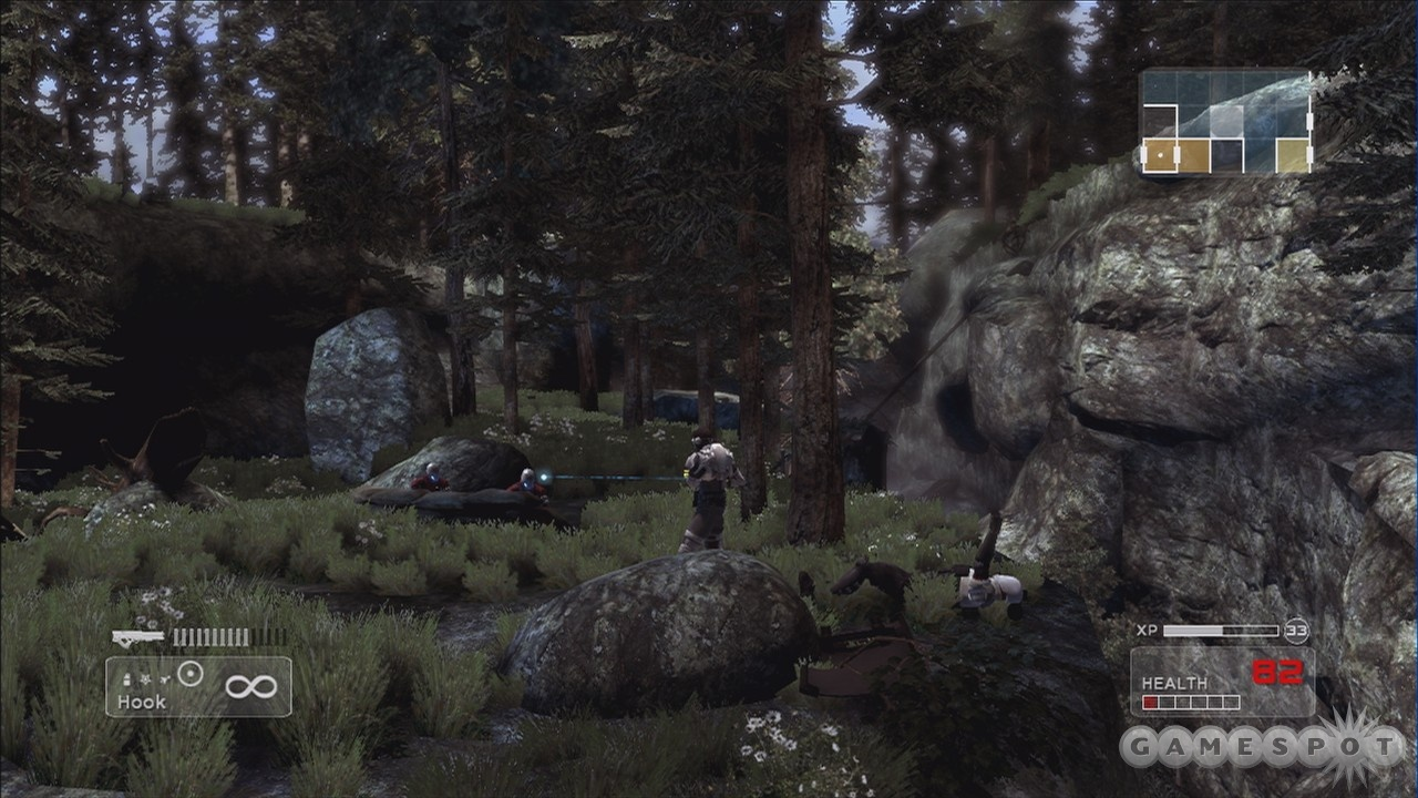 Enemies can attack from both the background and the foreground.