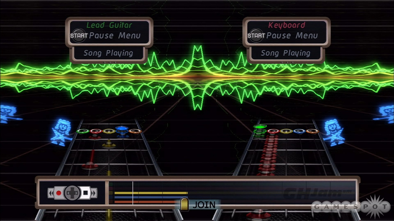 GHJam mode is a fun place to cut loose with your plastic guitar.