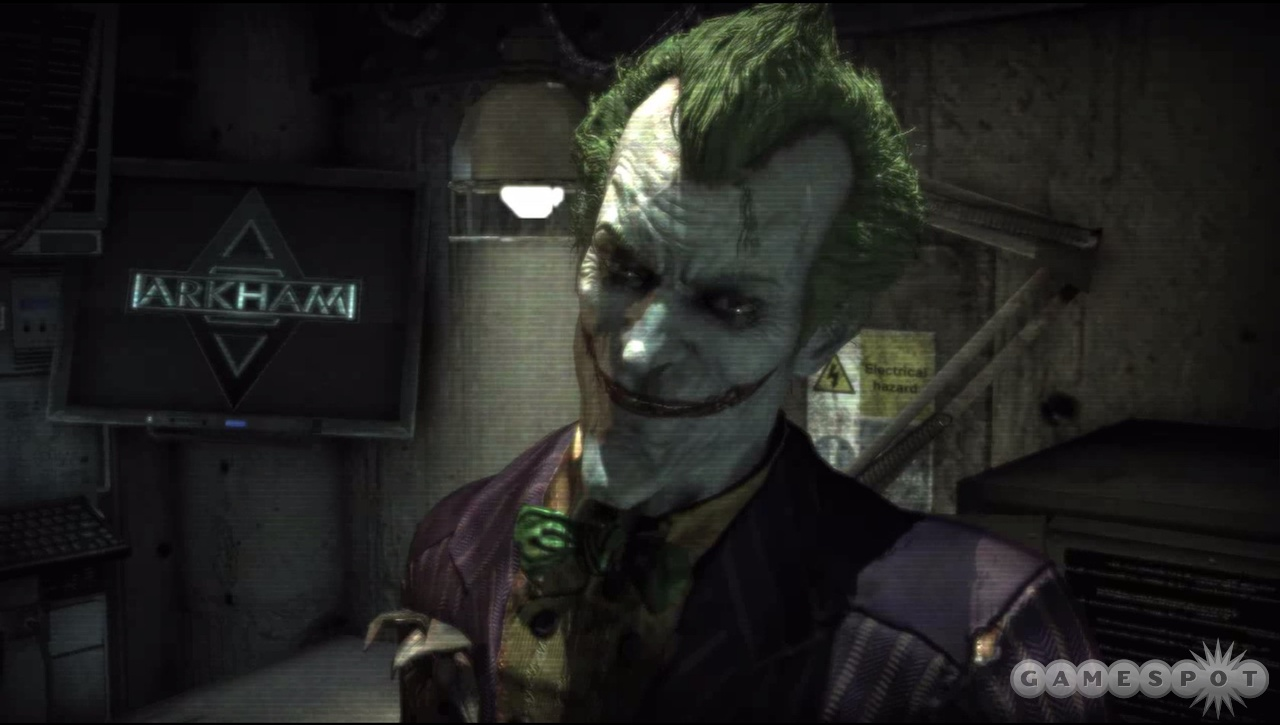 Joker is ever-present, taunting you via TV screens and PA systems.
