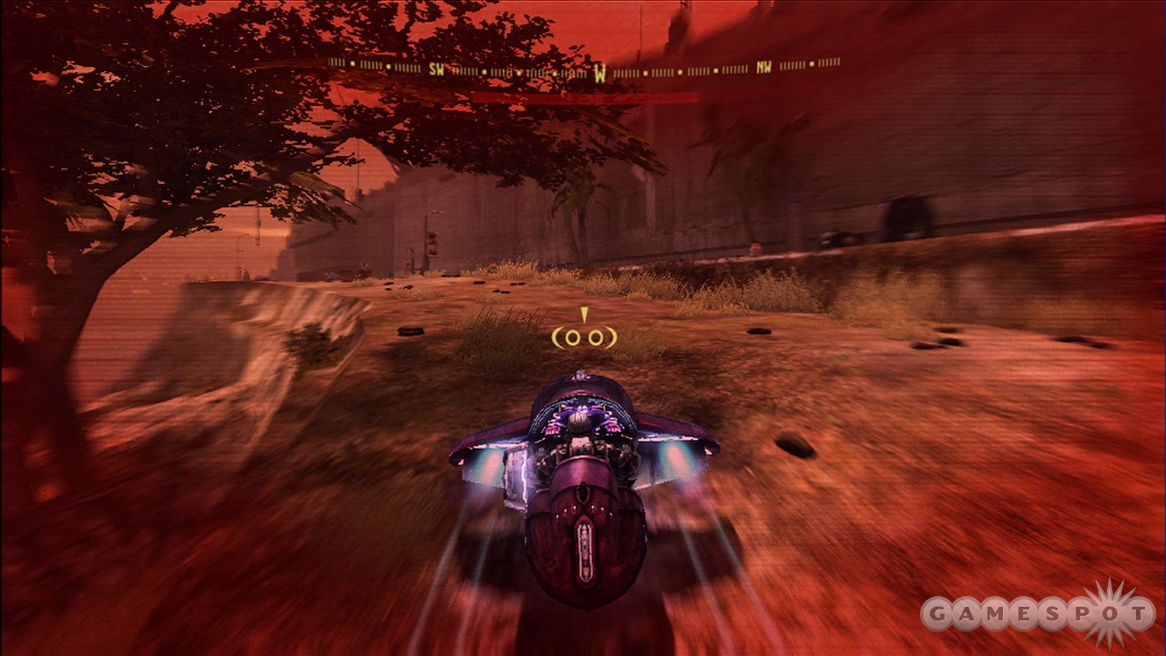 The vehicle sequences are awesome even with the overused red effect.
