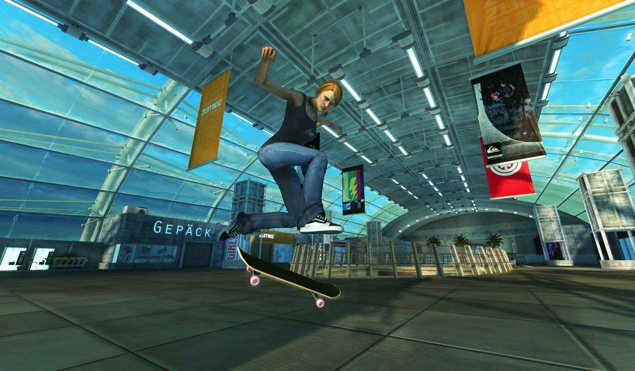 Fans of Tony Hawk's Pro Skater 3's Airport level will get a kick out of Frankfurt Airport.