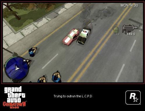 Wrecking police cars to escape from them makes cop chases more fun than ever.