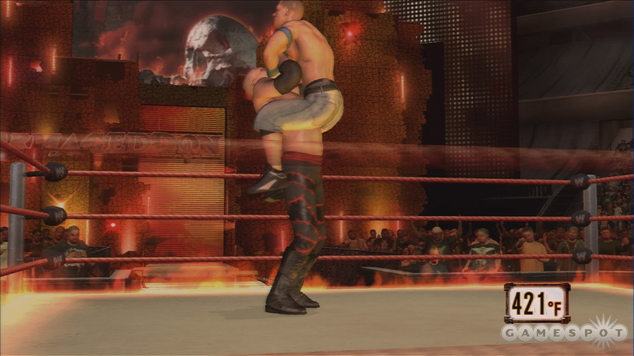 In a match against Kane, raging flames are the least of your worries. Ok, maybe not the least.