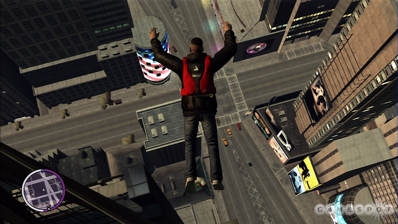 Base jump challenges with unique objectives are scattered all over the city.