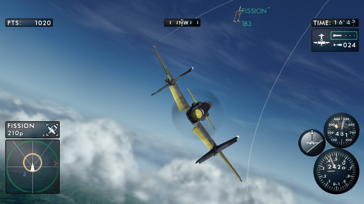 Dogfights with nothing but WWII-era prop planes gives Sky Crawlers a great retro vibe.