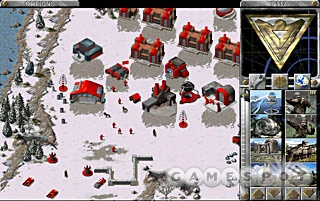 The beginning of the Red Alert saga. Pictured: Red buildings.