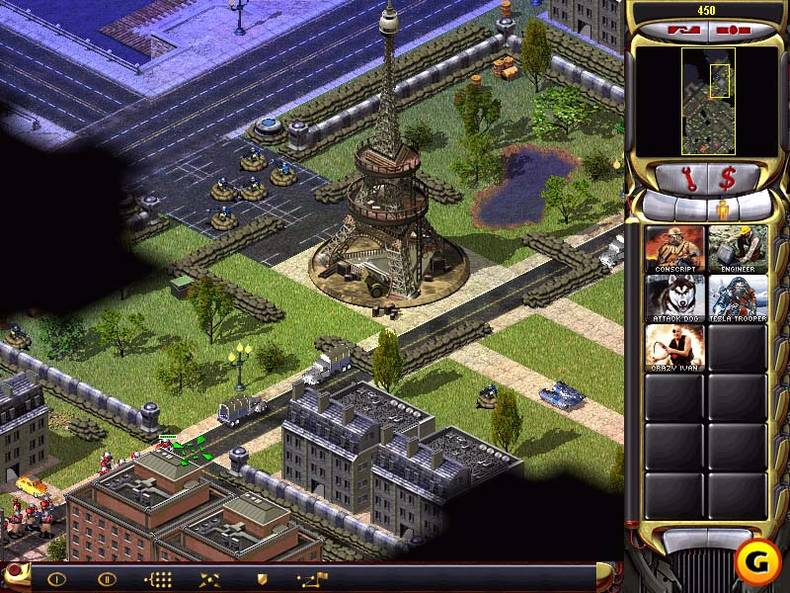 Attack dogs rushing the Eiffel Tower? This must be Red Alert 2.