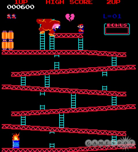 The original video game rejection in all its glory. Will Mario ever rescue his sweetheart? (Answer: No.)