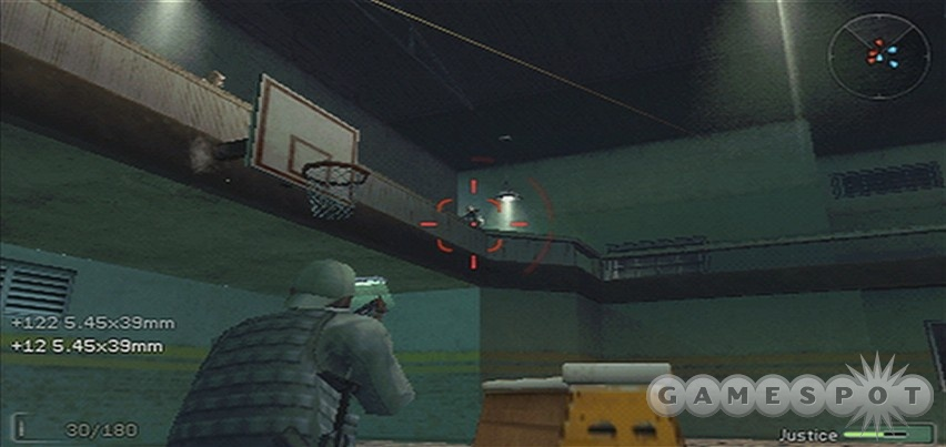 Swap your gun for a basketball, and you've got the makings of a great alley-oop.