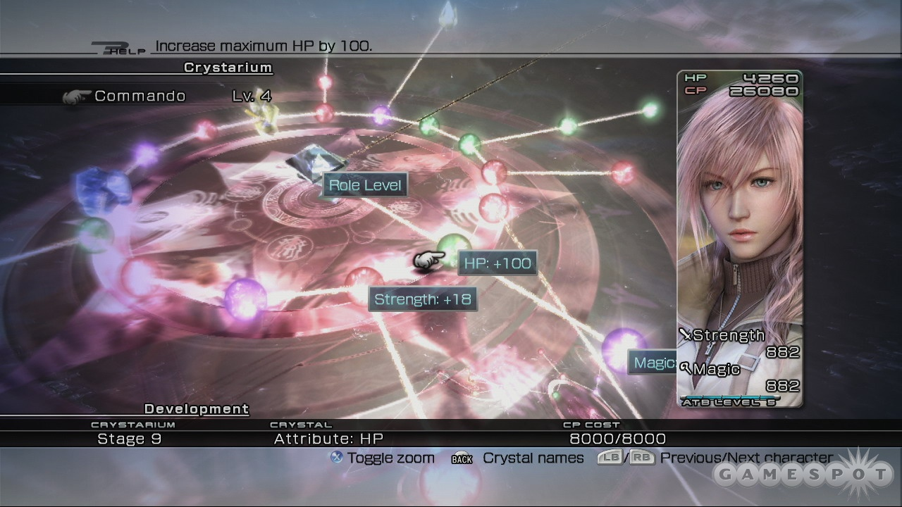 Character progression isn't as open-ended as the Crystarium makes it look.