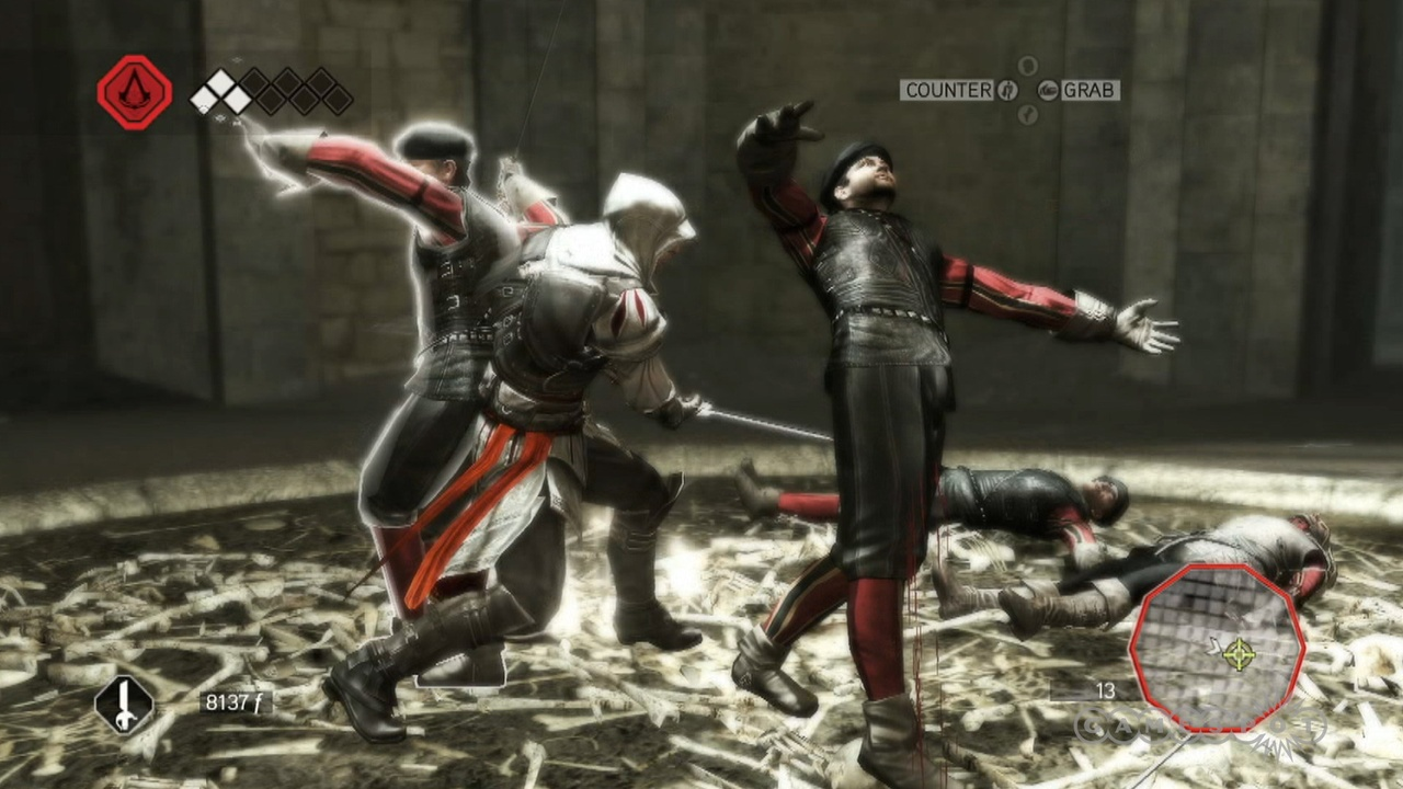 Ezio crashes a Templar party.