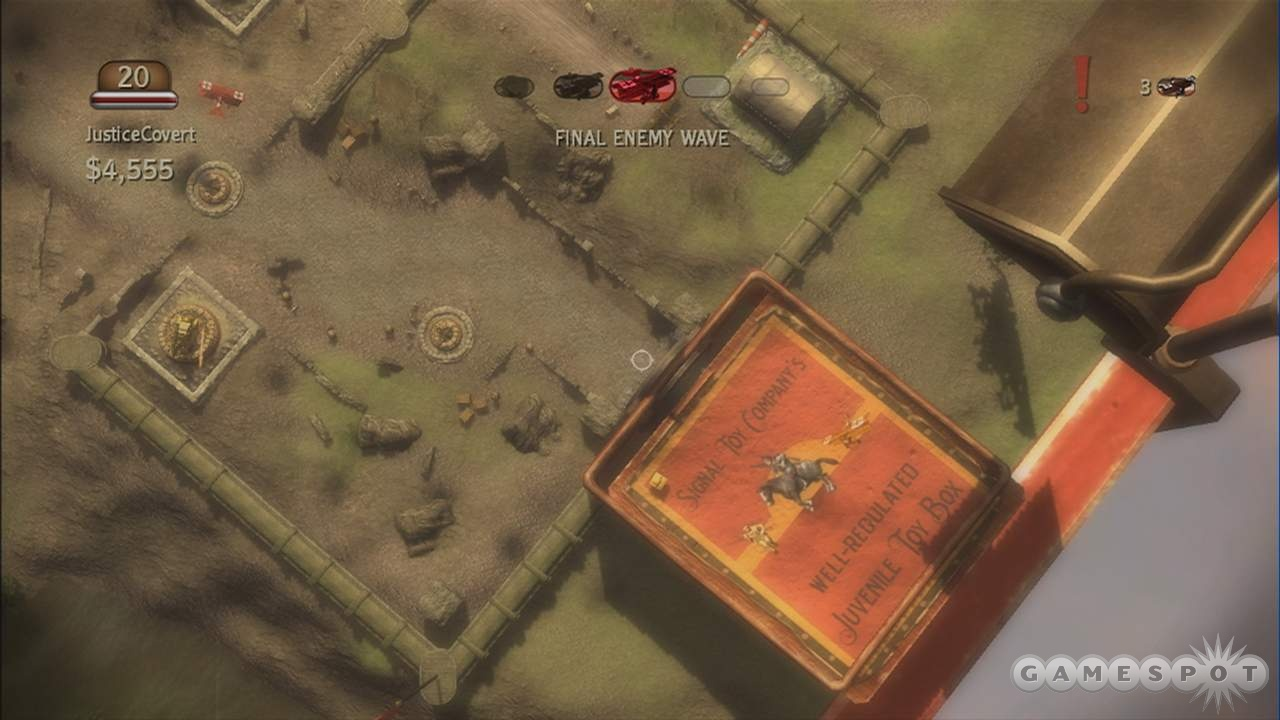 The birds-eye view is useful for moving around the battlefield quickly.