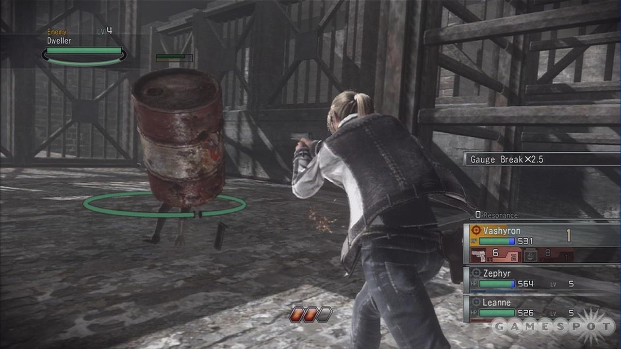 That barrel has legs! Shoot it!