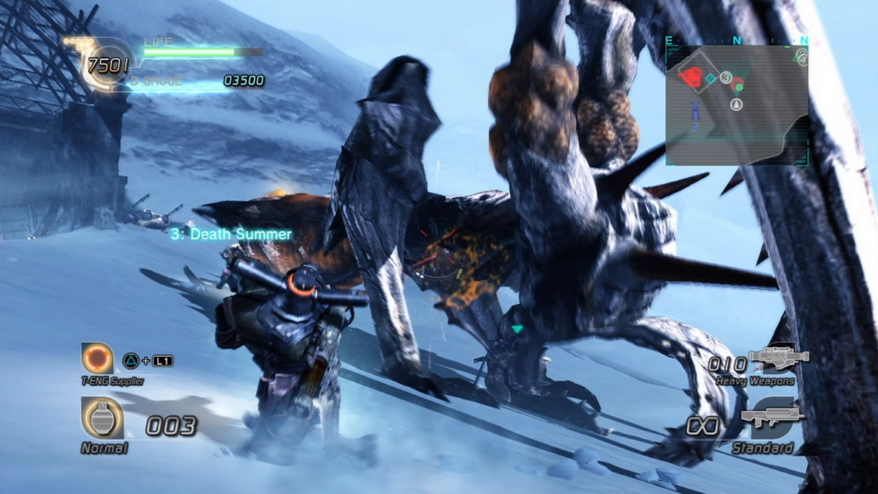 The snow levels will remind you of all the fun you had with the original Lost Planet that you aren't having in the sequel.