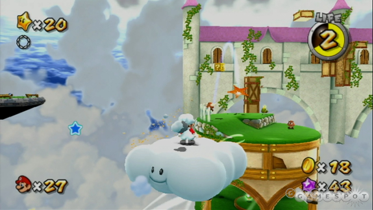 Even with a belly full of pasta, Mario is still lighter than air.