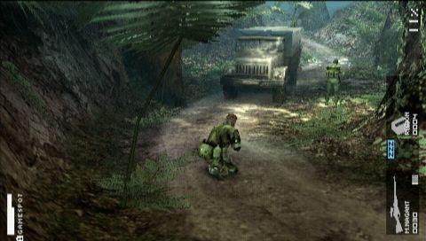 Don't crouch in oncoming traffic, Snake. Snake? SNAAAAAAAKKE!