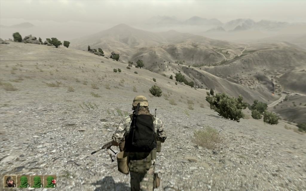 The mountains of Takistan seem to go on forever.